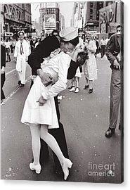 V J Day Times Square - 1945 Acrylic Print