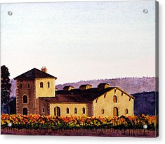 V. Sattui Winery Acrylic Print by Mike Robles