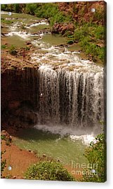 Vacation At Lower Navajo Falls Acrylic Print