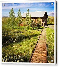 Vacation Home In South Iceland Acrylic Print