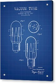 Vacuum Tube Patent From 1927 - Blueprint Acrylic Print