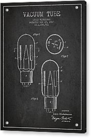 Vacuum Tube Patent From 1927 - Charcoal Acrylic Print