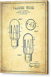 Vacuum Tube Patent From 1927 - Vintage Acrylic Print