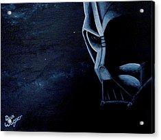 Vader Galaxy Acrylic Print by Dan Wagner