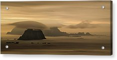 Vaeroy Islands At Cloudy Sunset Acrylic Print by Panoramic Images