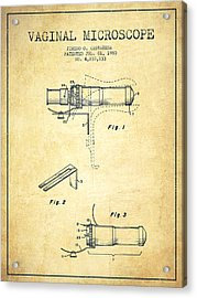 Vaginal Microscope Patent From 1980 - Vintage Acrylic Print by Aged Pixel