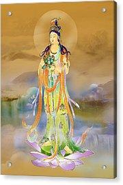Acrylic Print featuring the photograph Vaidurya  Kuan Yin by Lanjee Chee