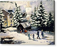 Vail Covered Bridge Acrylic Print by Patty  Frierson