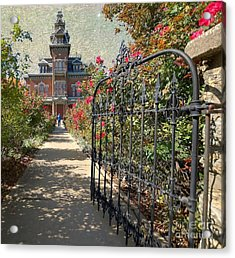 Vaile Landscape And Gate Acrylic Print
