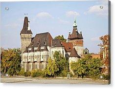Vajdahunyad Castle In Budapest Acrylic Print