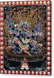Vajrakilaya Dorje Phurba Acrylic Print by Sergey Noskov