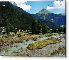 Acrylic Print featuring the photograph Val Di Fassa by Zinvolle Art