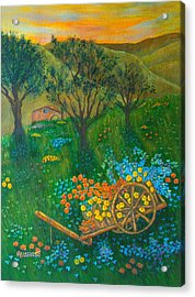 Val D'orcia Acrylic Print by Pamela Allegretto
