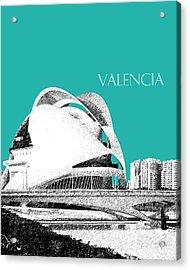 Valencia Skyline City Of Arts And Sciences - Aqua Acrylic Print
