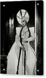 Valentina Koshubaas The Bride In Les Noces Acrylic Print by Cecil Beaton