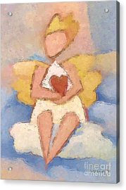 Valentine Angel Acrylic Print by Lutz Baar