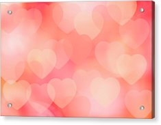 Valentine Background Acrylic Print by Tetra Images