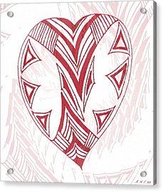 Valentine Heart Acrylic Print by Amanda Holmes Tzafrir