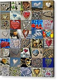 Valentine - Hearts And Memories   Acrylic Print by Daliana Pacuraru