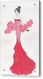 Valentine Red   Acrylic Print by Christine Corretti