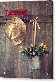 Valentine Roses Acrylic Print by Amanda Elwell