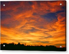 Valentine Sunset Acrylic Print by Tammy Espino