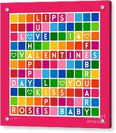 Valentines Crossword Puzzle-jp2455 Acrylic Print