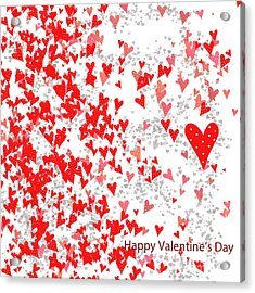 Valentine's Day Card Acrylic Print by Trilby Cole