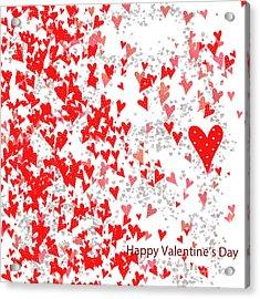 Valentine's Day Card Acrylic Print