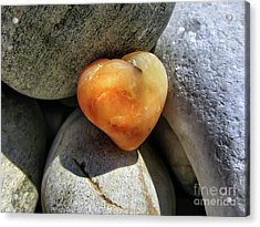 Valentine's Day- Heart Of Stone Acrylic Print by Daliana Pacuraru