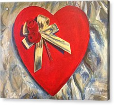 Valentine's Heart Acrylic Print by Chrissey Dittus