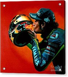 Valentino Rossi Portrait Acrylic Print