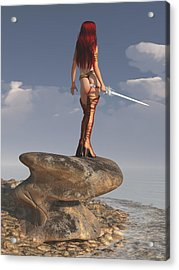 Acrylic Print featuring the digital art Valkyrie On The Shore by Kaylee Mason
