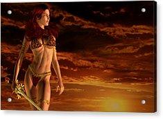 Valkyrie Sunset Acrylic Print by Kaylee Mason