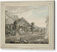 Valle Crucis Abbey Acrylic Print by British Library