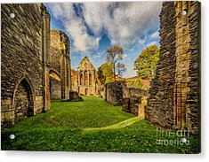 Valle Crucis Abbey Ruins Acrylic Print by Adrian Evans