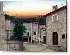 Acrylic Print featuring the painting Vallecchia De Monte Calvo by Albert Puskaric