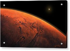 Valles Marineris Sunrise Acrylic Print