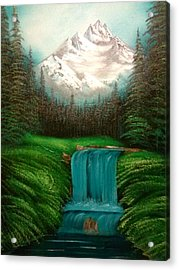Valley Falls Acrylic Print by Lynn Lawrence