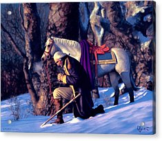 Acrylic Print featuring the painting Valley Forge by Dave Luebbert