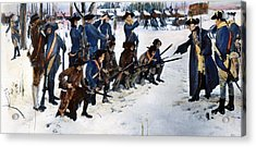Valley Forge: Steuben, 1778 Acrylic Print by Granger
