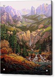 Valley King Acrylic Print by W  Scott Fenton