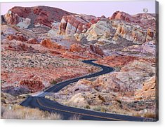 Valley Of Fire Road Acrylic Print by Patrick Downey