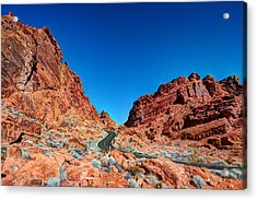 Valley Of Fire Acrylic Print by Zachary Cox