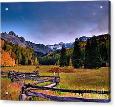 Valley Of Mt Sneffels Acrylic Print by Steven Reed