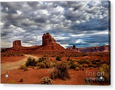 Valley Of The Gods Stormy Clouds Acrylic Print by Robert Bales