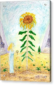 Valley Of The Mammoth Sunflowers Acrylic Print