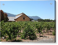 Valley Of The Moon Winery In The Sonoma California Wine Country 5d24485 Acrylic Print by Wingsdomain Art and Photography