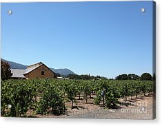 Valley Of The Moon Winery In The Sonoma California Wine Country 5d24486 Acrylic Print by Wingsdomain Art and Photography