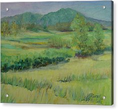 Valley Ranch Rural Western Landscape Painting Oregon Art  Acrylic Print